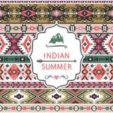 Navajo bezszwowy kolorowy plemienny wzór Zdjęcie Royalty Free