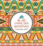 Navajo bezszwowy plemienny kolorowy wzór Obrazy Royalty Free