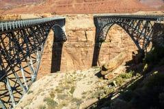Navajo-Brücke über dem Kolorado-Fluss Stockbild