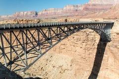 Navajo-Brücke über dem Kolorado-Fluss stockbilder