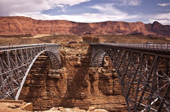 Navajo Bridge. This is a picture of Navajo Bridge - a famous WPA crossing Marble Canyon on the Navajo Nation of Northern Arizona Royalty Free Stock Image