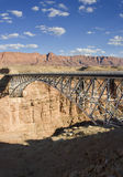 Navajo Bridge. View of the Navajo Bridge over the canyon Royalty Free Stock Photography