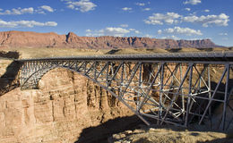 Navajo Bridge. View of the Navajo Bridge over the canyon Royalty Free Stock Images