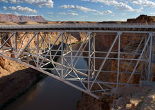 Navajo Bridge. View of the Navajo Bridge over the canyon Stock Photos
