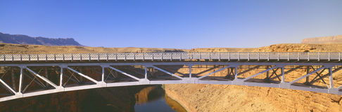 Navajo Bridge across Colorado River Stock Image