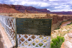 Navajo Bridge in Arizona. Navajo Bridge crossing Marble Canyon in Arizona Stock Images