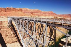 Navajo Bridge, Arizona. Navajo Bridge over the Colorado River, Arizona Royalty Free Stock Image