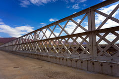 Navajo Bridge and Blue Sky. View of Navajo Bridge in Arizona with a beautiful sky in the background Stock Photo