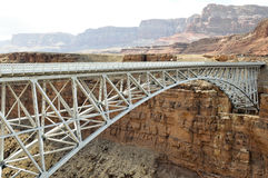 Navajo Bridge, Bridge over Colorado River, Arizona. Navajo Bridge - Steel Arch Bridge over Colorado River, Arizona Royalty Free Stock Photo