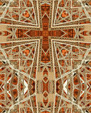 Navajo Bridge cross3. Kaleidoscope cross from photo of Navajo Bridge spanning Colorado River, northern Arizona Stock Photos