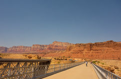 The navajo  bridge at glen canyon, arizona Stock Photos