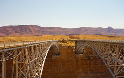 The navajo  bridge at glen canyon, arizona Royalty Free Stock Photos