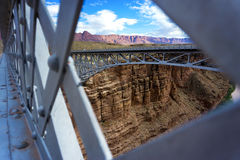 Navajo Bridge and Landscape. Beautiful landscape of Marble Canyon as seen from Navajo Bridge in Arizona Royalty Free Stock Photo