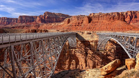Navajo Bridge in Marble Canyon, Arizona Stock Photos