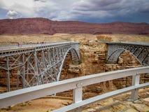 Navajo Bridge near Lee`s Ferry in northern Arizona stock image