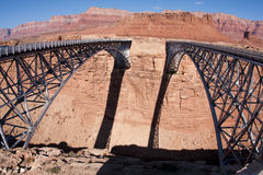 Navajo Bridge over the Colorado River. Navajo Bridge crosses the Colorado River's Marble Canyon near Lee's Ferry in the U.S. state of Arizona Royalty Free Stock Image
