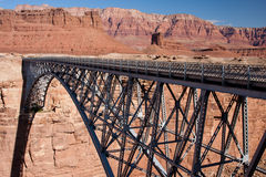 Navajo Bridge over the Colorado River. Navajo Bridge crosses the Colorado River's Marble Canyon near Lee's Ferry in the U.S. state of Arizona Stock Photo