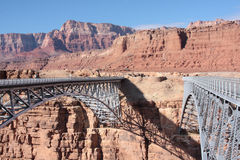 Navajo Bridge over Colorado River. Bridge over Colorado River, Highway 89 A, near Marble Canyon in Arizona Royalty Free Stock Photos