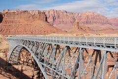 Navajo Bridge over Colorado River Stock Images