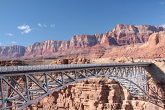 Navajo Bridge over Colorado River. Bridge over Colorado River, Highway 89 A, near Marble Canyon in Arizona Royalty Free Stock Images
