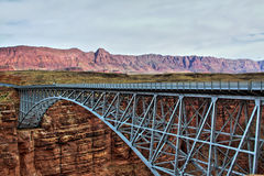 Navajo Bridge. Over the Colorado River, located at Marble Canyon in the Vermilion Cliffs National Monument, Arizona Royalty Free Stock Photos