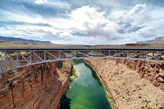 Navajo Bridge. The Navajo Bridge over the Colorado River and Marble Canyon Arizona Stock Photography