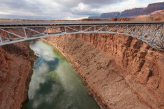 Navajo Bridge. Over Colorado river in Marble canyon, Southwest USA Royalty Free Stock Images