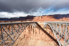 Navajo Bridge. Over Colorado river in Marble canyon, Southwest USA Royalty Free Stock Image