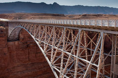 Navajo Bridge over the Grand Canyon. Navajo Bridge crosses the Colorado River's Marble Canyon near Lee's Ferry in the U.S. state of Arizona Royalty Free Stock Photography