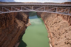 Navajo Bridge over the Grand Canyon Royalty Free Stock Photos