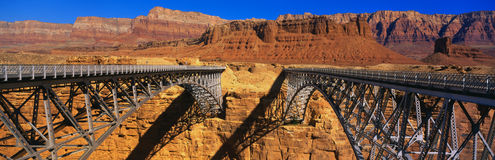 Navajo Bridge and red rocks, AZ Royalty Free Stock Photo