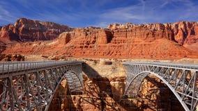 Navajo Bridge Spans Marble Canyon Stock Photos