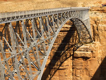 Navajo Bridge a tMarble Canyon. Arched bridge over the Colorado at Marble Canyon stock images