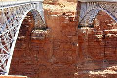 Navajo Bridges and canyon's wall Stock Photo