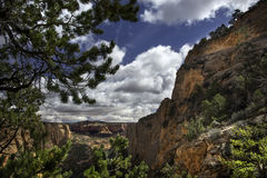 Navajo Canyon, Arizona, Dramatic Sky and Colors. Navajo Canyon, Arizona, rich colors, dramatic clouds and sky, a little-known National Monument Royalty Free Stock Photos