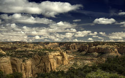Navajo Canyon, Arizona, Dramatic Sky and Colors. Navajo Canyon, Arizona, rich colors, dramatic clouds and sky, a little-known National Monument Royalty Free Stock Image