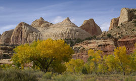 Navajo Dome. In Capitol Reef National Park, Utah royalty free stock images
