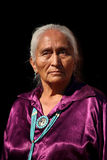 Navajo Elder Wearing Handmade Traditional Jewelry Stock Photography