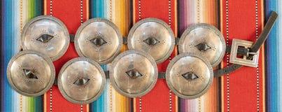 Navajo-erste Phase Concha Concho Belt stockbild