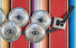 Navajo-erste Phase Concha Concho Belt lizenzfreie stockfotografie