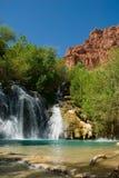 Navajo Falls in Havasu Canyon. Arizona Royalty Free Stock Image