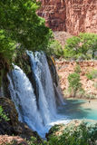 Navajo Falls Side View Stock Photo