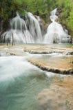 Navajo Falls and Travertine Royalty Free Stock Photo