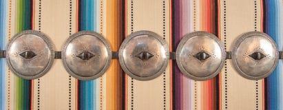 Navajo First Phase Concha Concho Belt. royalty free stock photo