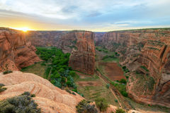 Navajo Fortress Sunrise. Canyon de Chelly Stock Photos