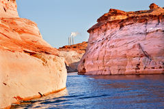 Navajo Generating Station Antelope Canyon Arizona Royalty Free Stock Photo