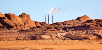 Navajo Generating Station Red Rocks Glen Canyon Stock Photography