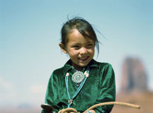 Navajo girl Stock Photography