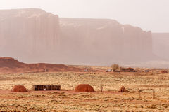 Navajo huts Stock Photo