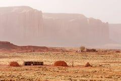 Navajo huts stock photo